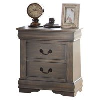 Acme Louis Philippe 2-Drawer Nightstand, Multiple Finishes