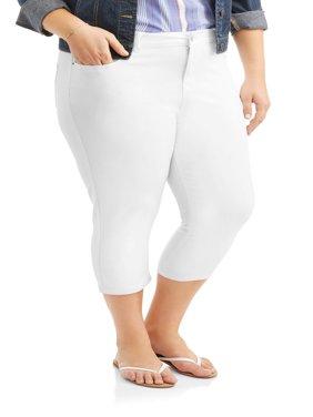 Women's Plus Size Super Stretch Capri