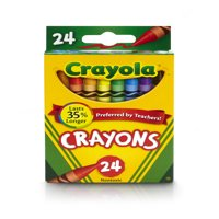 Crayola Crayons, Featuring Bluetiful, Great For Coloring Books, 24 Count