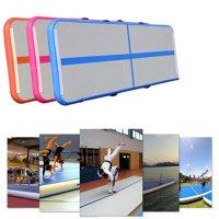Inflatable Gym Mat Air Floor Tumbling Track Gymnastics Cheerleading Mat Trick Pad, Green (No pump)