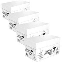 (4 Pack) Georgia Pacific Copy & Print Paper, 8 1/2 x 11, 20 lb, 92 Bright, White, 5000 Sheets/Carton