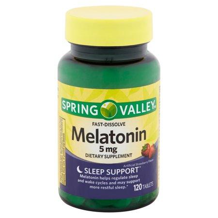 Comfort 120 Tablets (Spring Valley Fast-Dissolve Melatonin Tablets, 5 mg, 120 count)