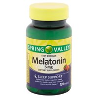 Spring Valley Fast-Dissolve Melatonin Tablets, 5 mg, 120 count