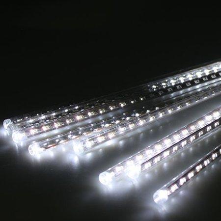 AGPtek 8pcs 50cm Tube Colorful Meteor Shower Rain Lights Snowfall Light for Wedding Party Christmas Decor cool White](Cool Party Lights)