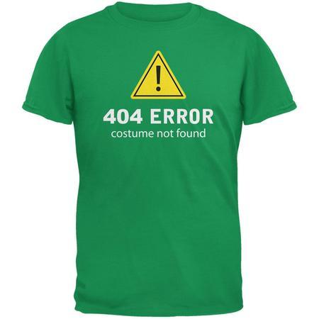 Halloween 404 Costume Not Found Irish Green Adult T-Shirt - Origins Of Halloween Ireland