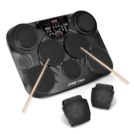 Pyle PTED01 - Electronic Table Digital Drum Kit Top w/ 7 Pad Digital Drum - Yamaha Electronic Drum