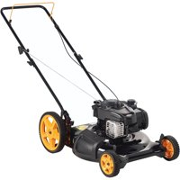"""Poulan Pro 21"""" Gas Push Lawn Mower with Side Discharge and Mulching"""