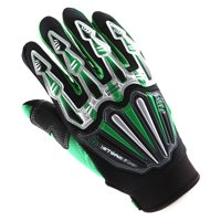 WOW Motocross Motorcycle BMX MX ATV Dirt Bike Bicycle Skeleton Racing Gloves Green