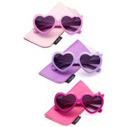 96d0190fa4 Newbee Fashion- Girls Heart Sunglasses with Bow Cute Heart Shaped Sunglasses  for Girls Fashion Sunglasses