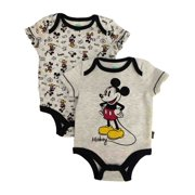 1ed5328a3 Disney Infant Boys 2pc Gray Mickey Mouse Bodysuit Set Baby Creeper Outfit