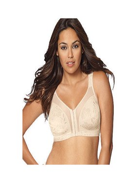 Womens 18 Hour 'Easier On' Front-Close Wirefree Bra with Flex Back, Style 4695
