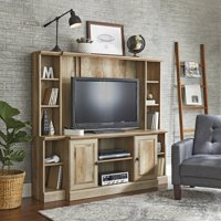 """Better Homes & Gardens Crossmill TV Stand/Entertainment Wall Unit for TV's up to 42"""", Weathered Finish"""