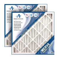 20x20x2 Pleated Air Filter MERV 8 - Highest Quality - 3 Pack - (Actual Size: 19.5 X 19.5 X 1.75)