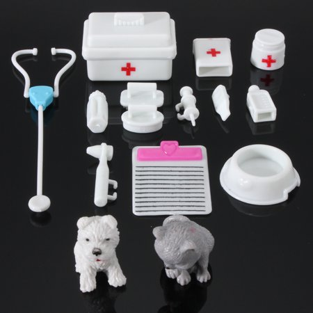 14Pcs Mini Medical Equipment Toys Kids Doctor Kit For Fashion Doll Accessories Set Gift New](Doctor Accessories)