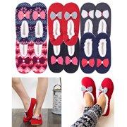 df4d37b88f59 2 Pair Women Knit Sherpa Lined Thermal Fuzzy Slipper Anti Slip Socks US S M  M