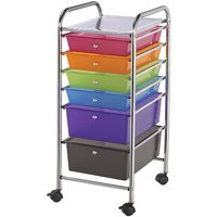 Alvin Storage Cart 6-Drawer (Standard and Deep) Multi-Colored
