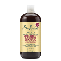 SheaMoisture Jamaican Black Castor Oil Strengthen & Restore Shampoo - Moisturizes Scalp and Softens Thick, Curly Hair- Sulfate-Free with Natural & Organic Ingredients (16.3 oz)