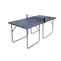 JOOLA Midsize Compact Table Tennis Table with Net Set, 12mm, 6', Blue