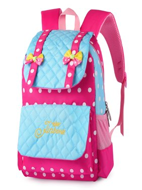 Casual School Bag, Vbiger Nylon Shoulder Daypack Children School Backpacks for Teen Girls, Blue