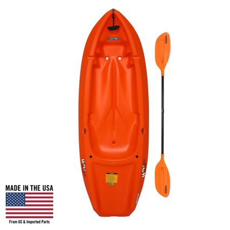 Lifetime, 6', Youth Kayak, with Bonus Paddle, (Orange)