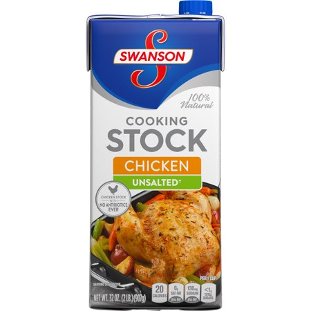 (3 Pack) Swanson Unsalted Chicken Cooking Stock, 32 oz. - Oyl Stock