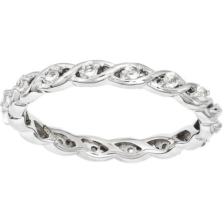 Stackable Expressions White Topaz Sterling Silver Ring