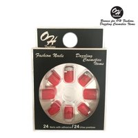 OH Fashion Stick on Nails Luxury Diamonds & Fake Nails, 3D Frech a Rhinestone, manicure, 24 counts