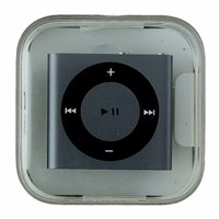 Apple iPod Shuffle 4th Generation - 2GB - Gray w/ Black Ring
