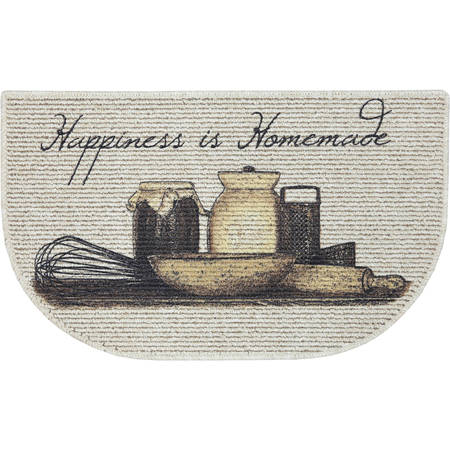 Mainstays Happiness is Homemade Printed Slice Kitchen Mat, 18