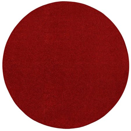 14 French Red Rubber (Bright House Solid Color Area Rugs Red - 13'x13')