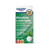 Equate Nicotine Lozenges, Mint Flavor, 4mg, 24 Count