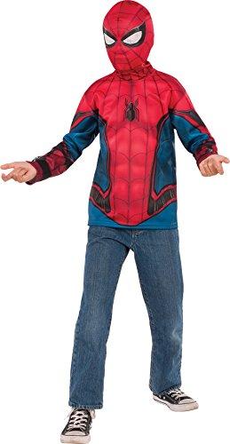 Nice Rubieu0027s Costume Spider Man: Homecoming Childu0027s Spider Man Costume Top,  Multicolor,