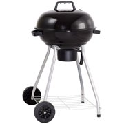 Gymax 18.5-Inch Kettle Charcoal Grill BBQ Outdoor Backyard Cooking with Wheels Black