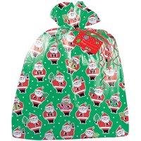 Large Plastic Santa Claus Christmas Gift Bag, 3.75 x 3 ft, 1ct