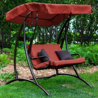 Coral Coast Long Bay 2 Person Canopy Swing - Terra Cotta