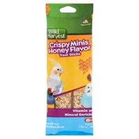 (3 Pack) Wild Harvest Crispy Mini Honey Flavor Treat Sticks, 2.96 oz