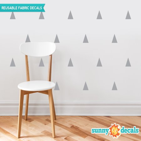 Triangle Fabric Wall Decals - Set of 32 Triangles - Triangle Pattern Decor - 19 Color (Best Off White Paint Color For Walls)