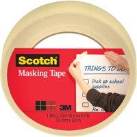 "Scotch Masking Tape, 94"" x 54.6 Yards, Tan, 1 Roll"