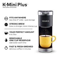 Keurig - K-Mini Plus Single Serve K-Cup Pod Coffee Maker - Matte Black - NEW