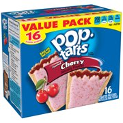 (2 pack) Kellogg's Pop-Tarts, Breakfast Toaster Pastries, Frosted Cherry Flavored, Value Pack, 29.3 oz 16 Ct