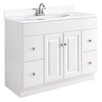 "Design House 531145 Wyndham Unassembled 2-Door 4-Drawer Vanity without Top, 48"", White"