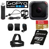 GoPro Hero5 Session CHDCA-501 Action Camera Bundle - 10.0 Megapixel - 4K - 16 GB microSD - USB - Black