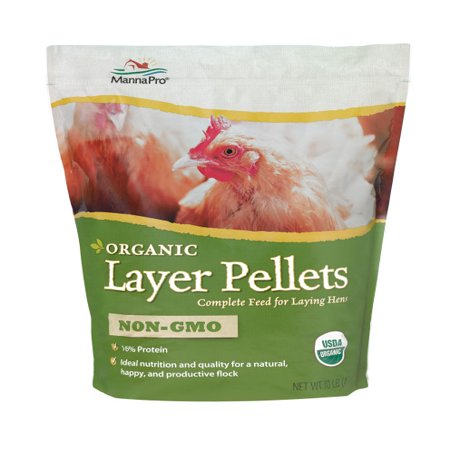 Manna Pro Organic Layer Pellets Chicken Feed, 10 lbs.