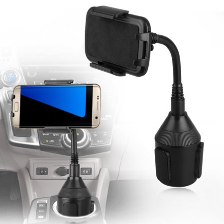 Universal Car Mount Adjustable Gooseneck Cup Holder Cradle Stand for Cell (Arkon Universal Cell Phone Pedestal)