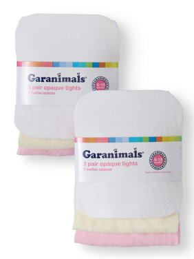 Garanimals Baby Toddler Girls' Opaque Tights, 3-pair