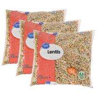 (3 Pack) Great Value Lentils, 16 oz
