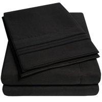 1800 Thread Count 4 Piece Deep Pocket Bedroom Bed Sheet Set Queen - Gray