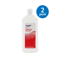 (2 Pack) Equate 91% Isopropyl Alcohol, 32 Oz
