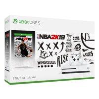 Microsoft Xbox One S 1TB NBA 2K19 Bundle, White, 234-00575