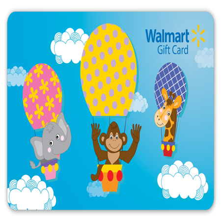 Hot Air Balloon Walmart Gift Card - Gift Card Shower